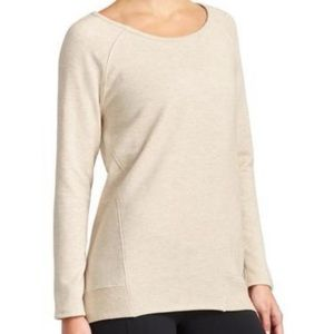 Athleta Heathered Cream Studio CYA Sweatshirt